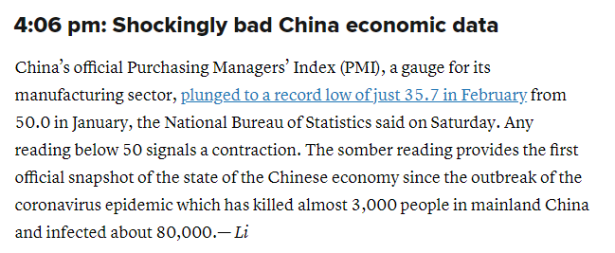 Chinese PMI
